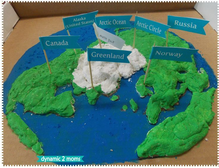 Arctic Region Salt Dough Map + Free Map Flag Printable | Education ...