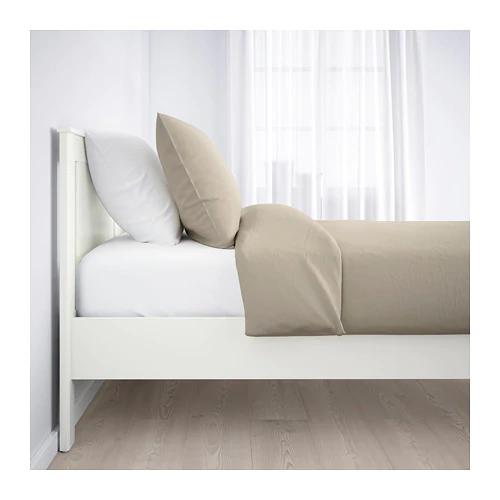 SONGESAND Bed frame white Full/Double Bed frame, White