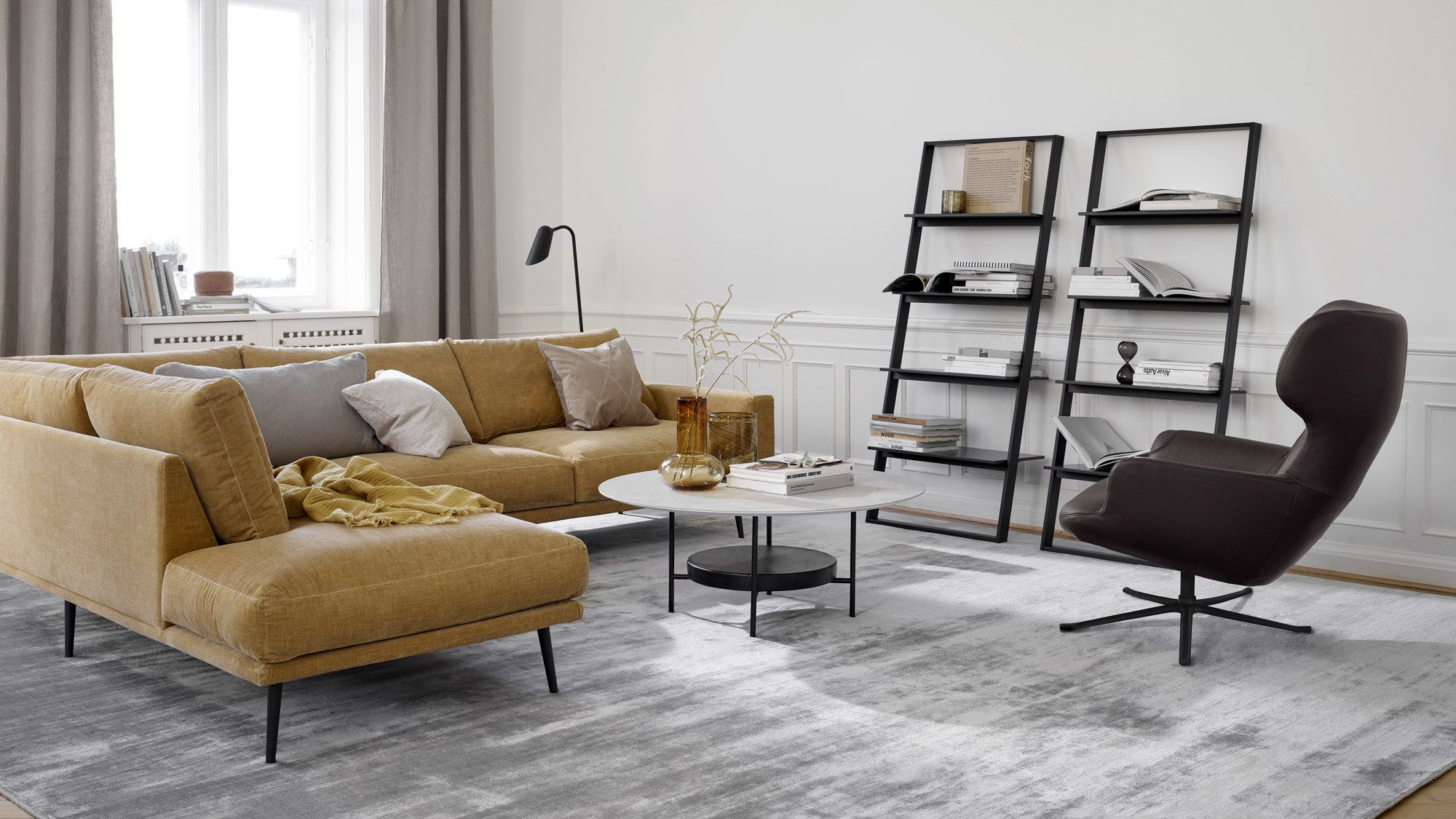 Trento Chair With Swivel Function Living Room Scandinavian