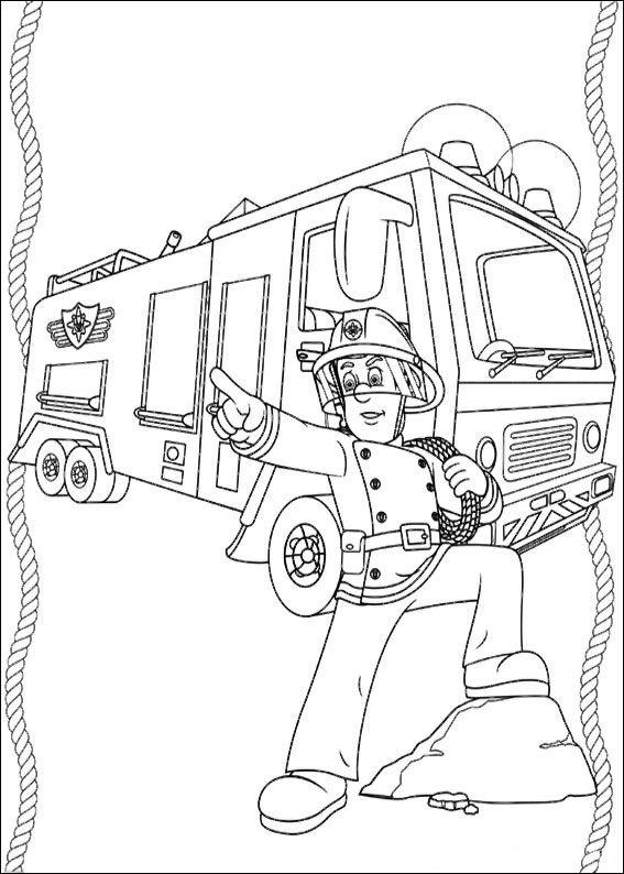 Pompiere Sam Da Colorare.75 Disegni Di Sam Il Pompiere Da Colorare Libri Da Colorare Disegni Disegni Bambini
