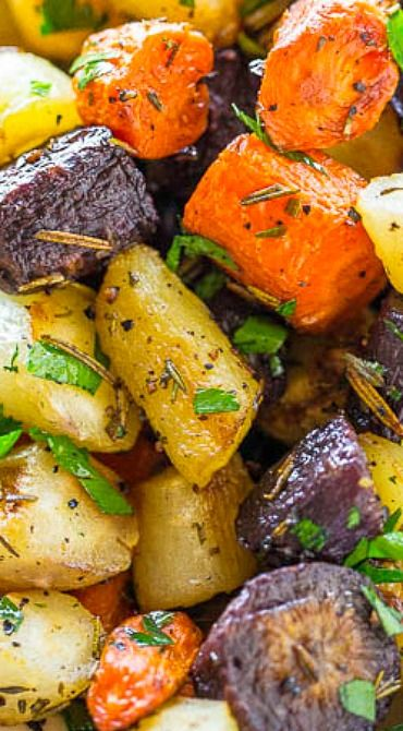 Herb-Roasted Tri-Colored Carrots