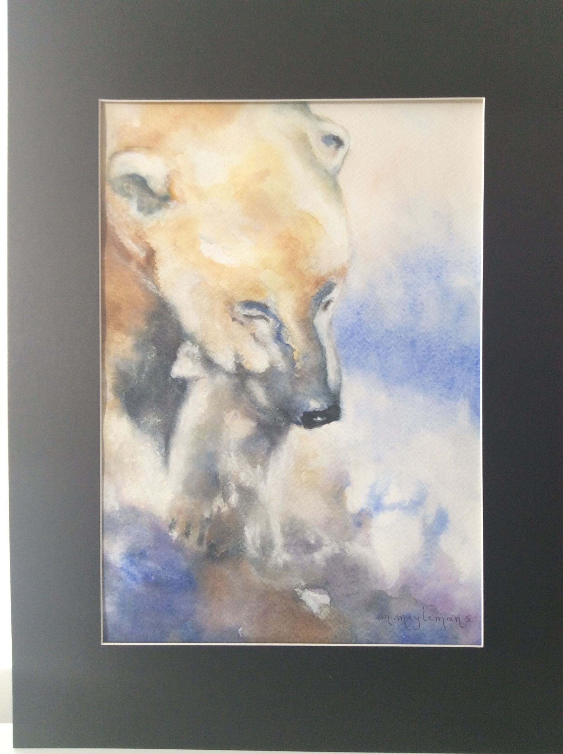 Watercolour painting by Myriam Meylemans after a work from/naar een ...