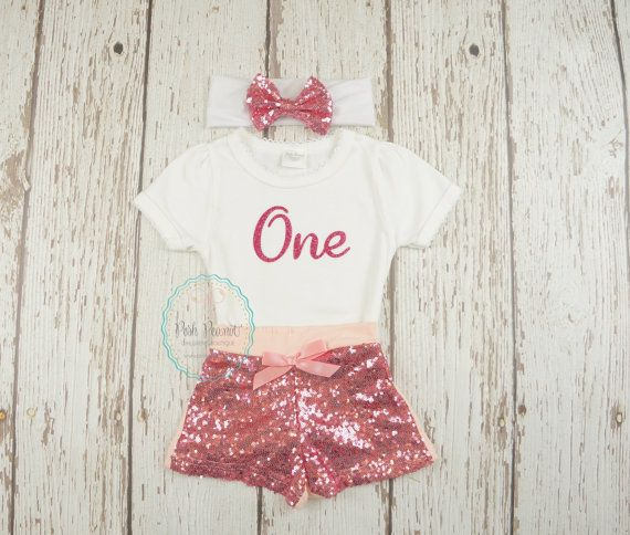 2cc763099 pink birthday outfit girls first birthday outfit by PoshPeanutKids ...