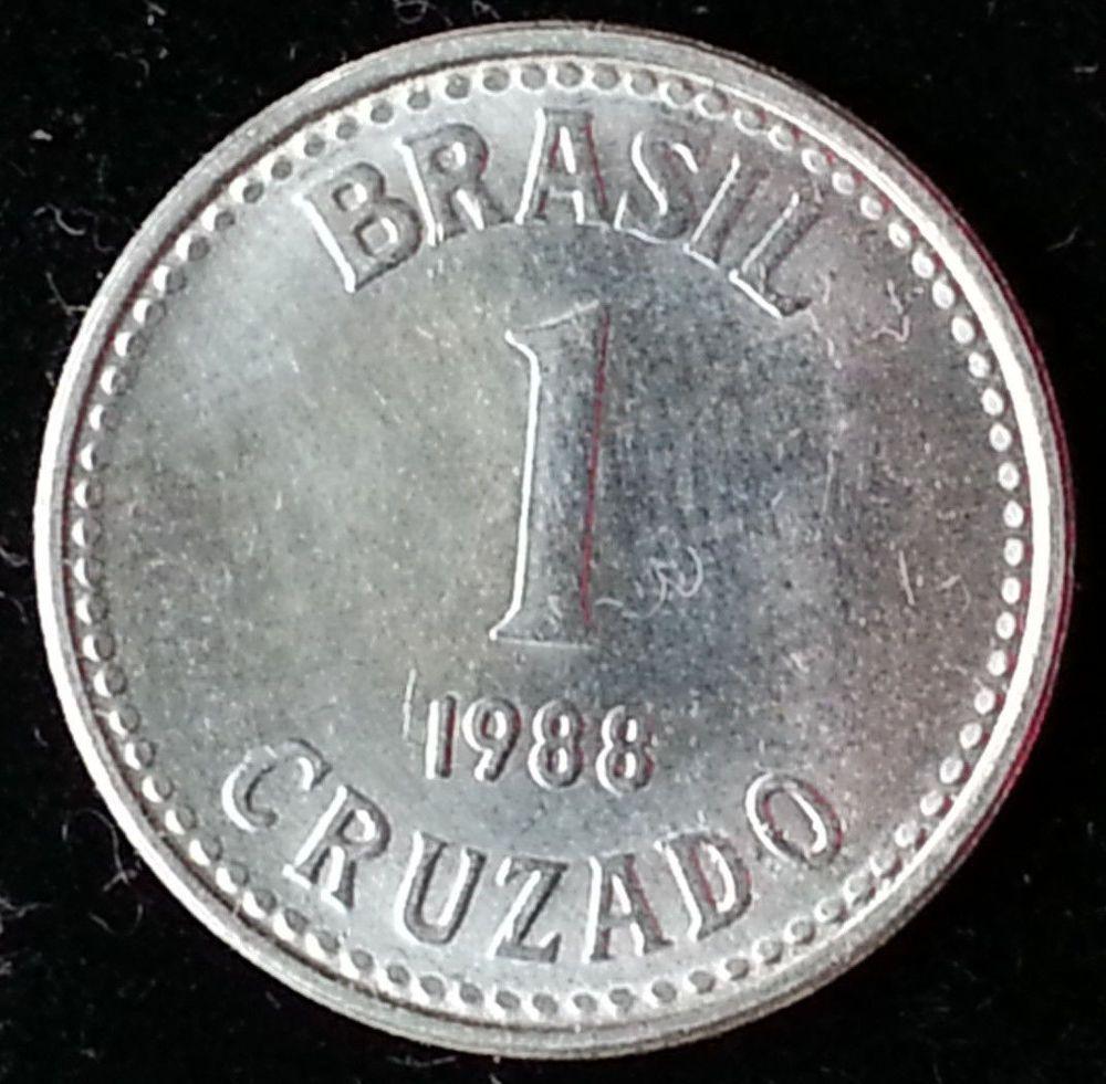 Brazil 1 Cruzado 1988 Coin South America Cash Money Money Cash Coins Money