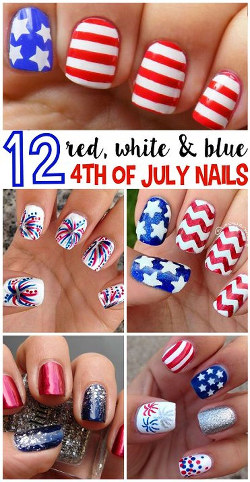 Nail Art Tutorials 4thofjuly July4th Nail Art Nail Styles And