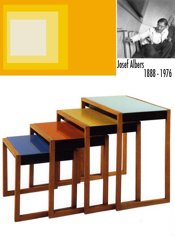 Josef Albers #bauhaus Josef Albers Pinterest Diseño de