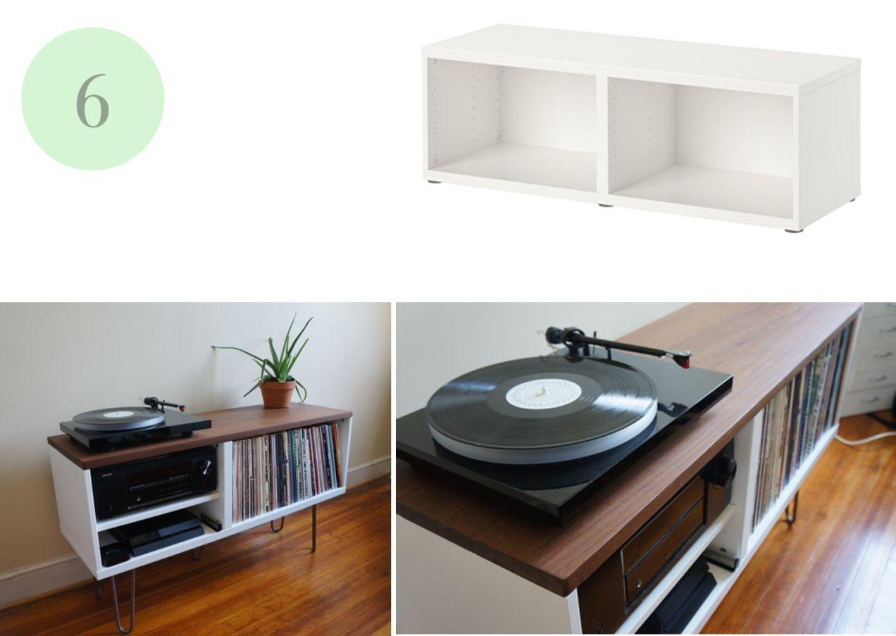 Ikea hacks pinterest tocadiscos vinilos y soporte - Mueble consola ikea ...