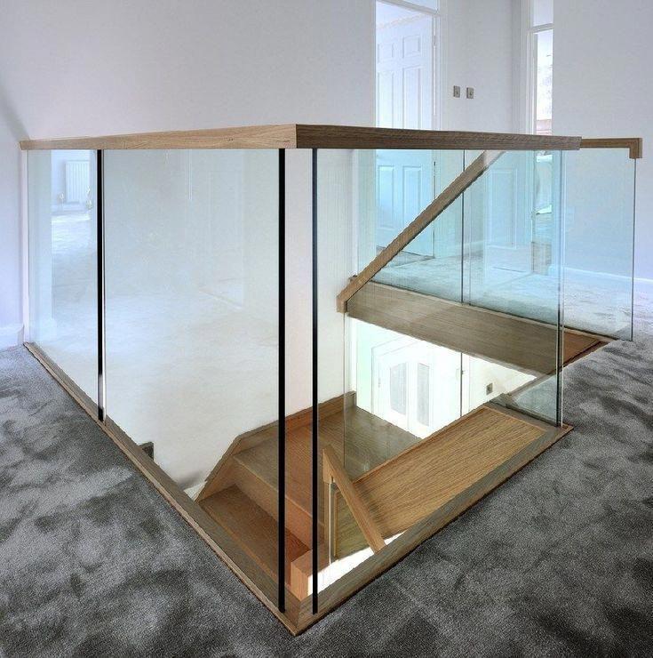 40 Trending Modern Staircase Design Ideas And Stair Handrails: Amazing Sleek Modern Glass Railing Stair Design Ideas 19