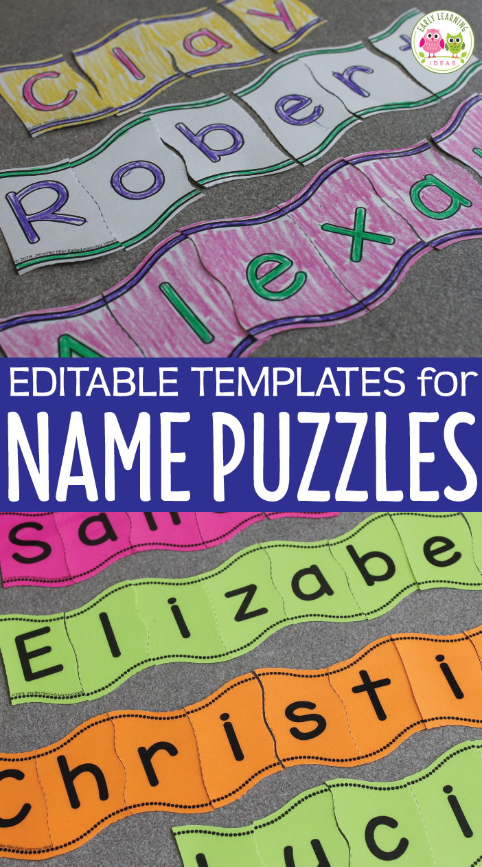 image regarding Name Puzzle Printable referred to as Track record Things to do Editable Wavy Reputation Puzzles for Preschool