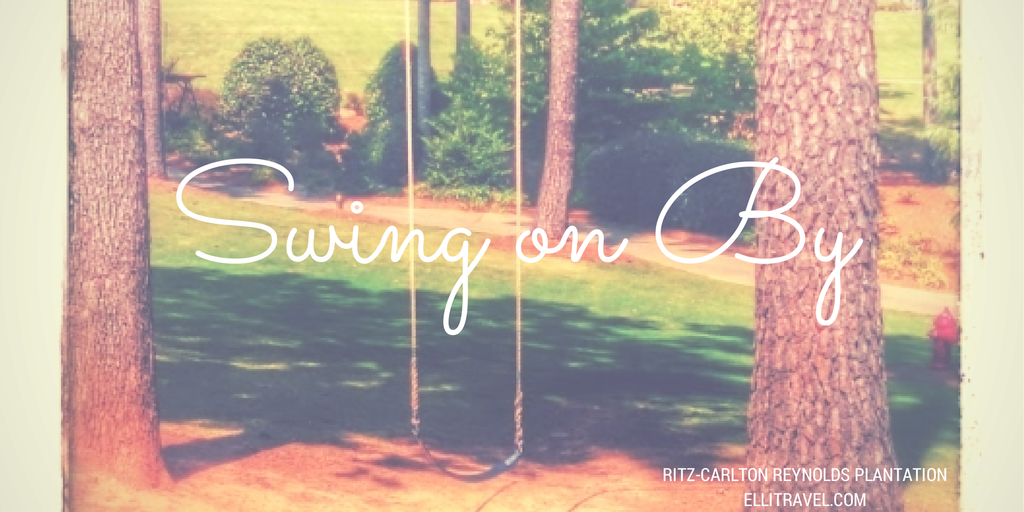 Kids and adults alike loved the gigantic swings hung from