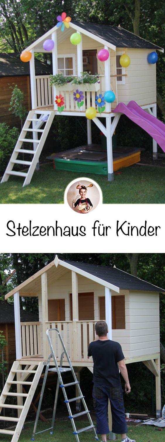 Leonie´s Stelzenhaus Teil 4: Die feierliche Geburtstags Übergabe!!! #diyoutdoorprojects