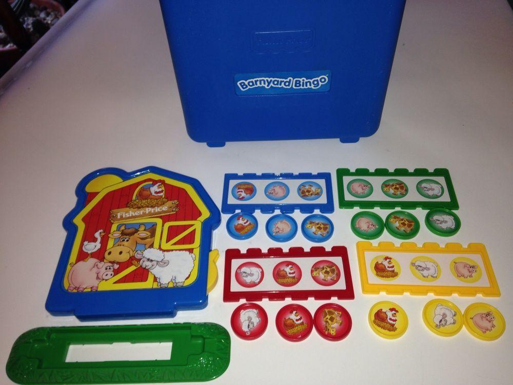 Barnyard Bingo Game Blue Hard Case Fisher Price Preschool