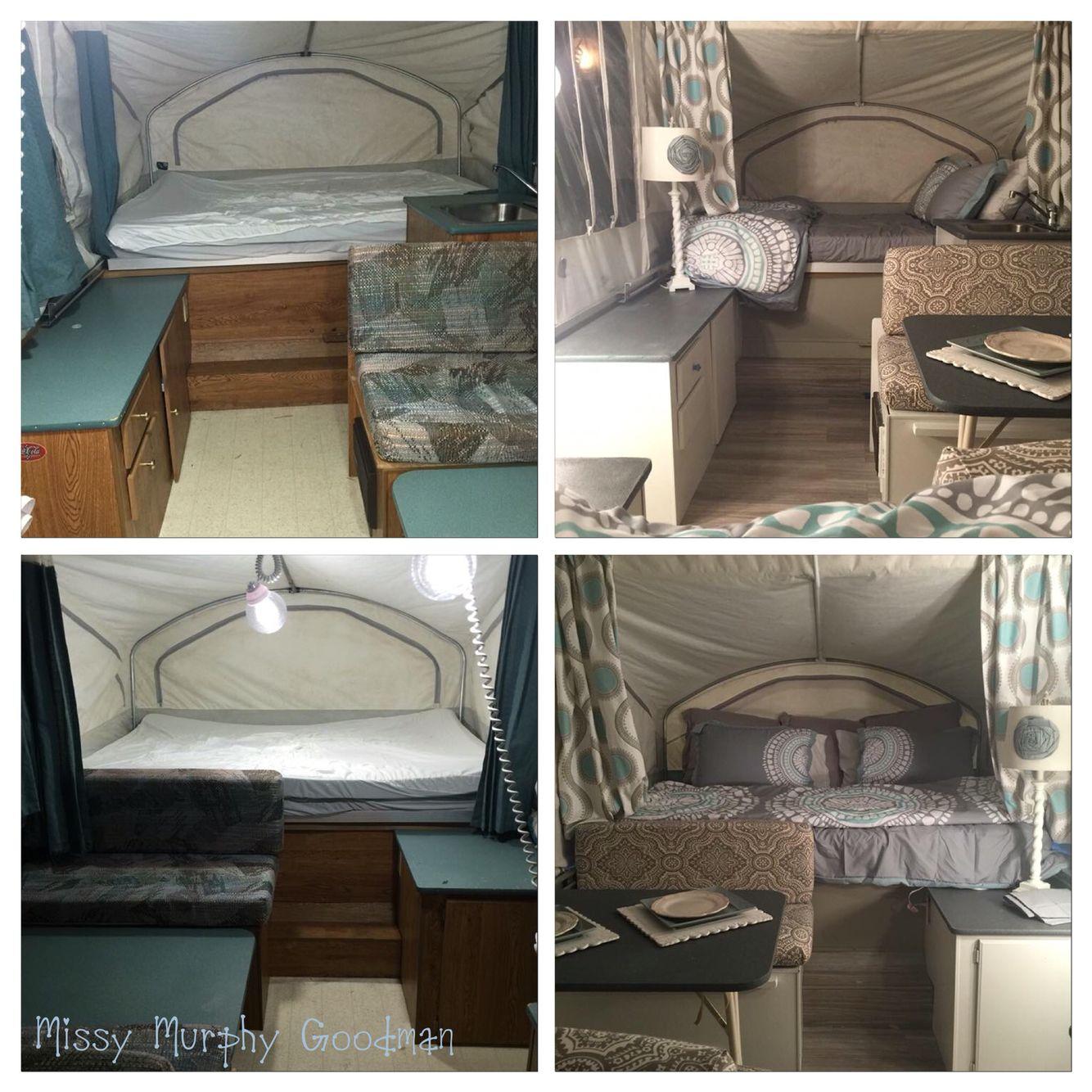 Before and After pop up camper. | Glampers/Pop Ups & More! | Pinterest