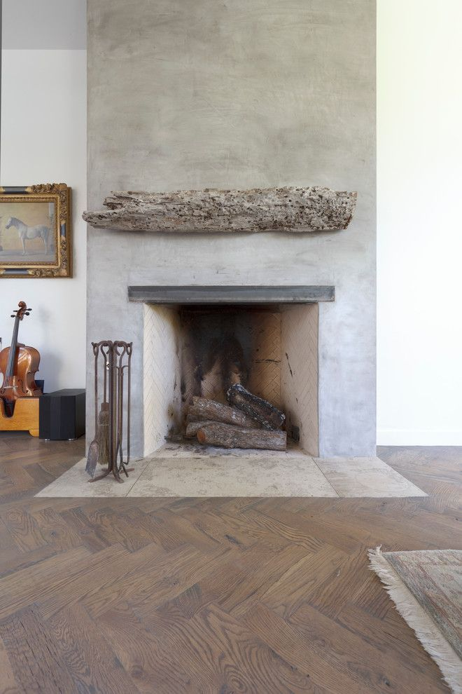 salvaged wood living room with mantle driftwood reclaimed wood fireplace mantel wood floor herringbone