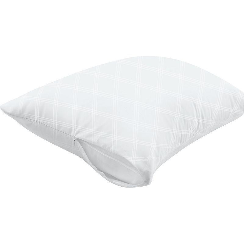 Allerease Ultimate Pillow Protector White Waterproof Pet Dander Barrier Dust Mite Allergen