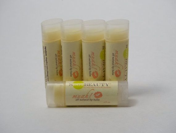 muah All natural lip balm with mango butter on Etsy, $4.00