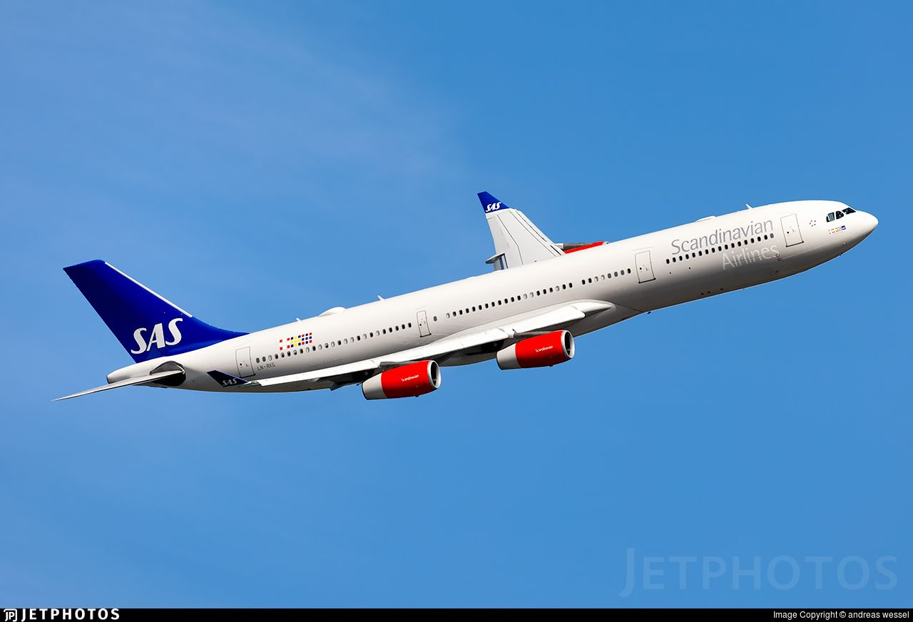Ln Rkg Airbus A340 313x Jetphotos Com Is The Biggest Database Of Aviation Photographs With Over 3 Mil Scandinavian Airlines System Airbus Commercial Aircraft