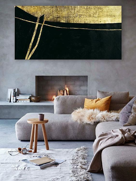 Horizontal Canvas Art Contemporary Painting Large Canvas ...