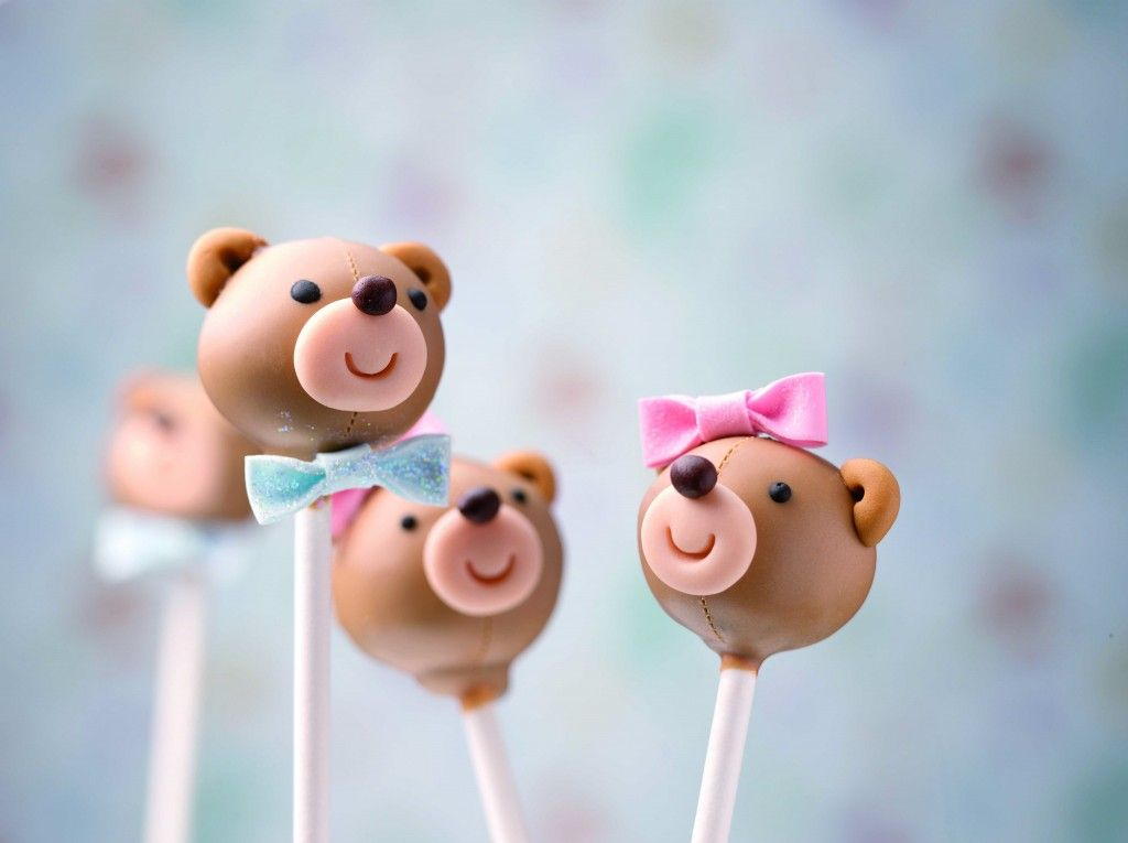 Baby Shower Food Ideas | Teddy Bear Cake Pops : cake pops decorating ideas - www.pureclipart.com
