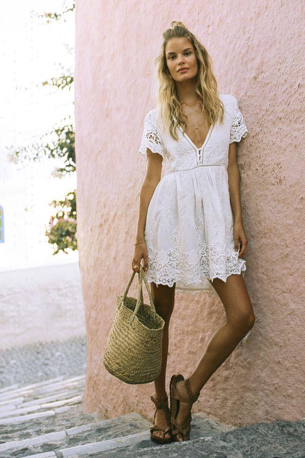 44++ Bohemian dress white ideas in 2021