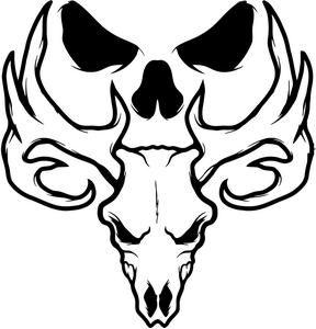 Bone Collector Deer Skull Logo Deer heads Pinterest Skull