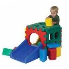Blocks: Jr. Snap Cube - Ramp Set w/Set of 16 Blocks ...