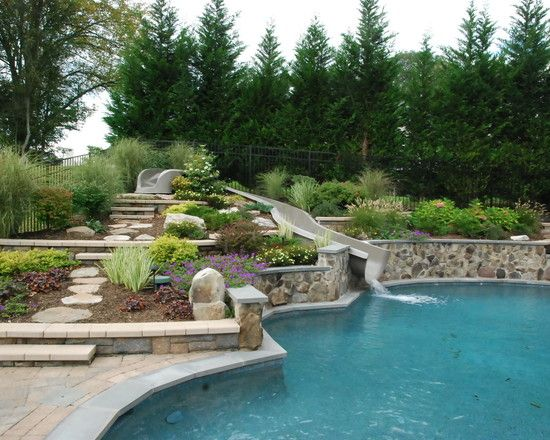 Unfortunately i don 39 t think there 39 s any good way to for Pool design for sloped yard