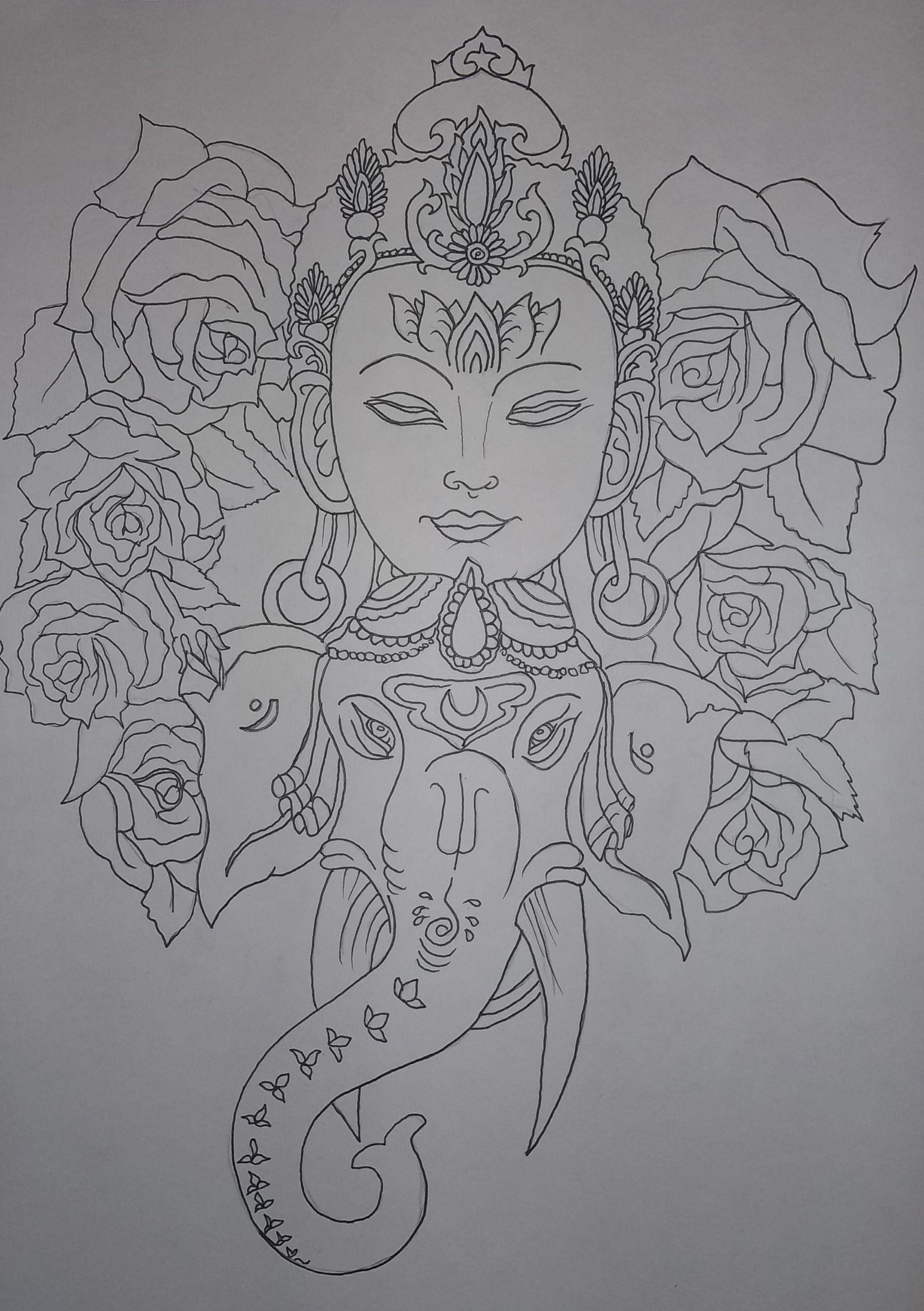 Love Tattoo Outlines: Work In Progress, Tattoo Design Outline: Taryn Healey