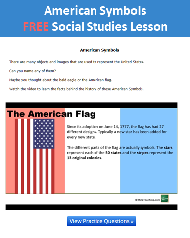 Social Studies Online Lesson American Symbols Whether Your