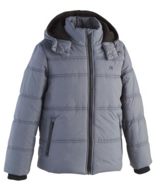 99c9d5926465 Calvin Klein Toddler Boys Hooded Bubble Jacket - Black 2T in 2019 ...