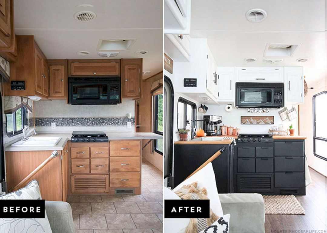 25 best before and after rv renovations for amazing outdoor life rh pinterest com