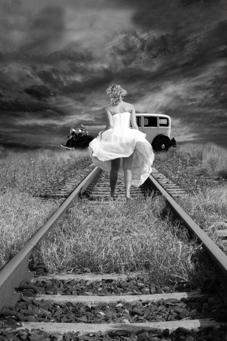 I would love to take a photoshoot on railroad tracks :)