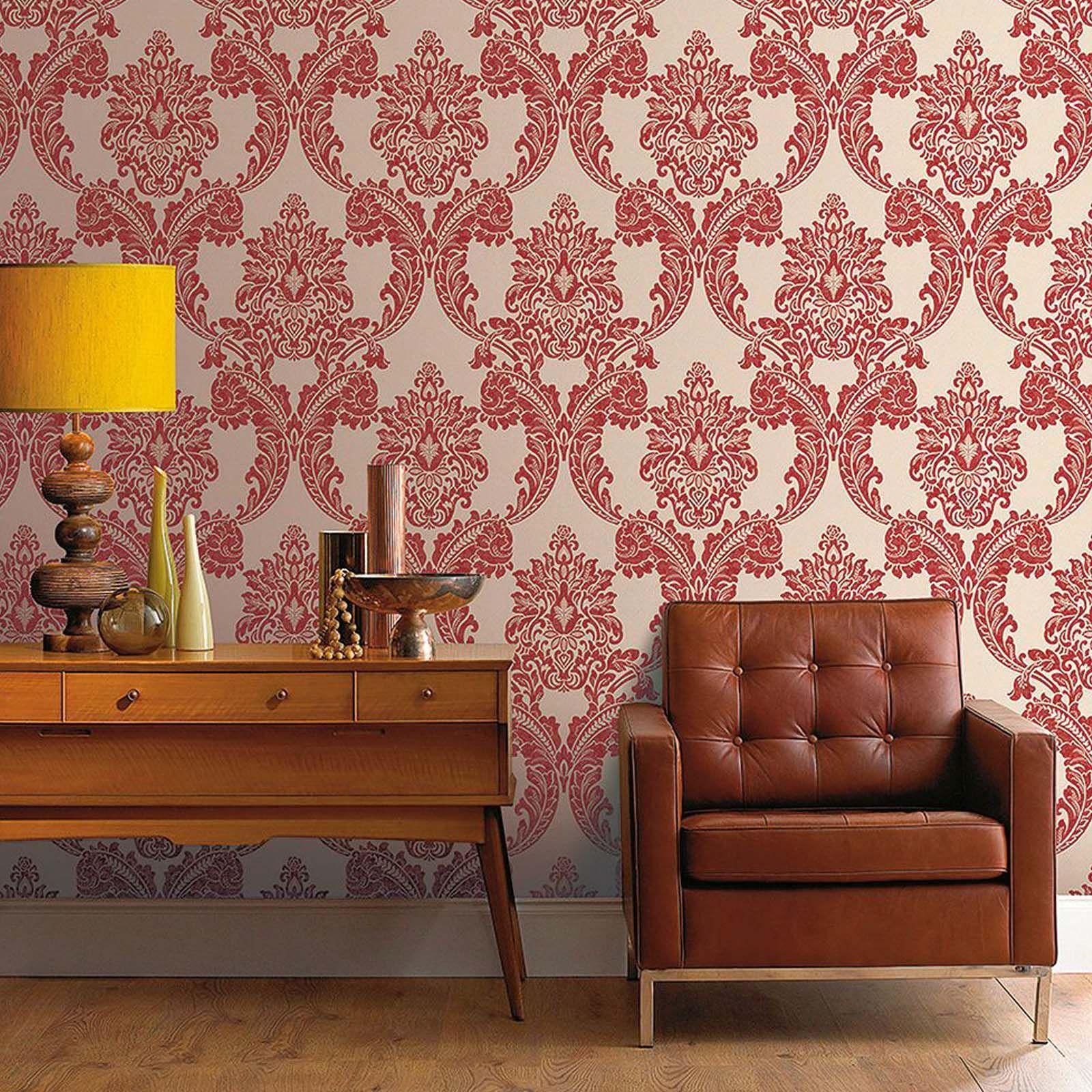 Cove Wallpaper Ideas Superfresco Regent Red Wallpaper At Home