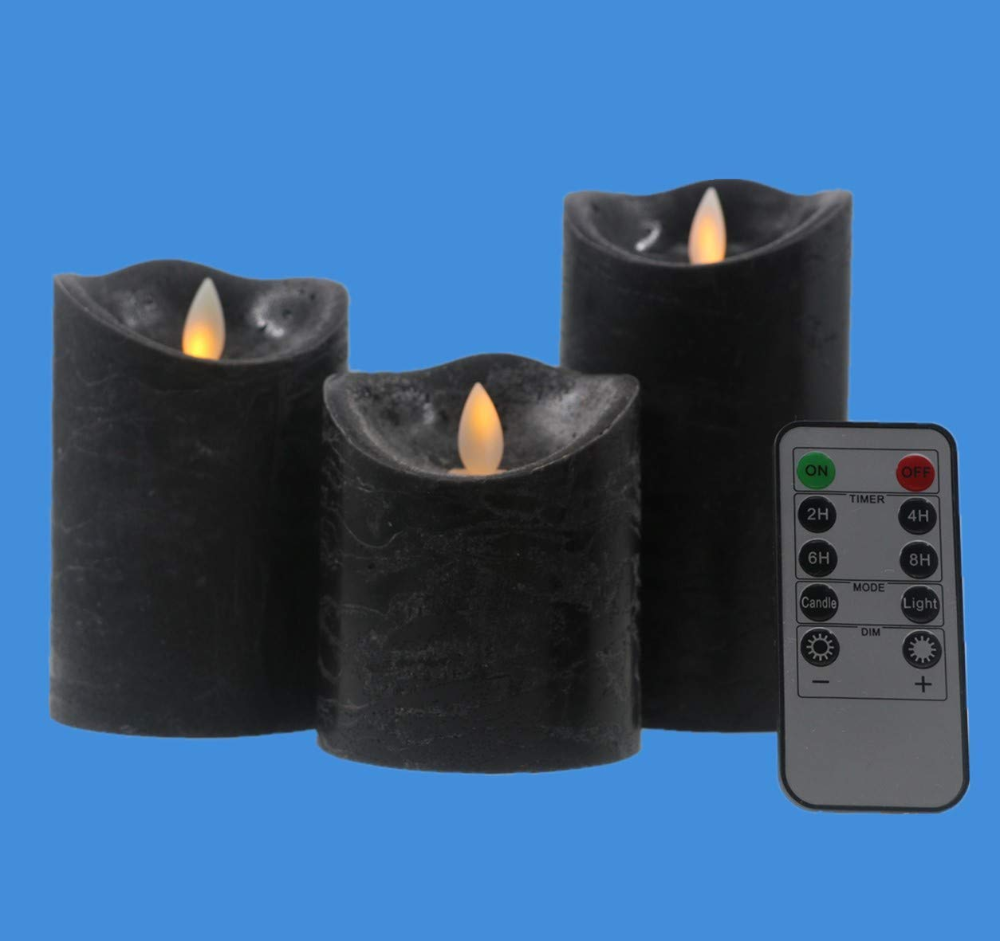 Kitch Aroma Flameless Candles 3 X 4 5 6inch Battery