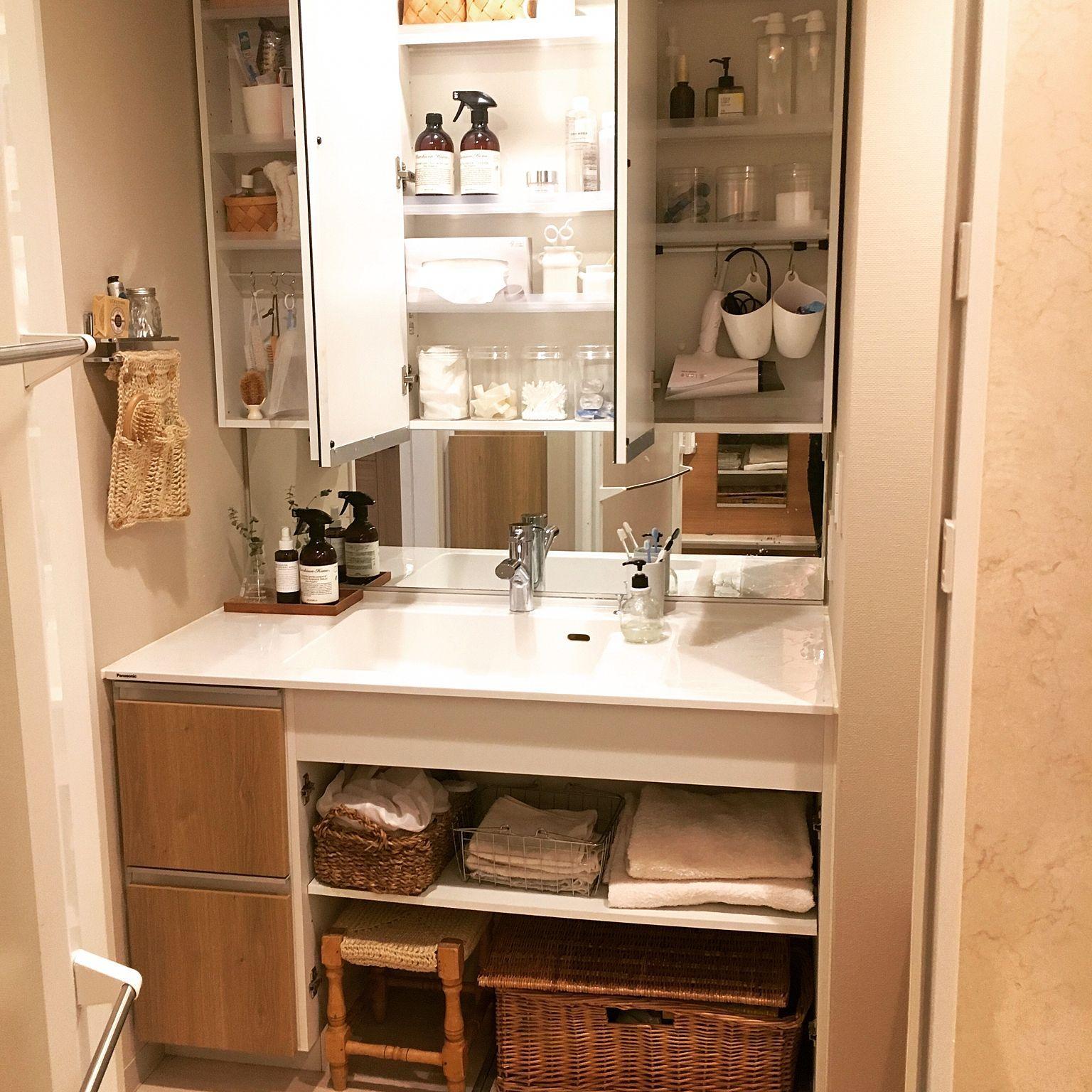洗面台収納アイデア集 スッキリ収納すればもっと使いやすい 収納 アイデア 洗面台 インテリア 収納