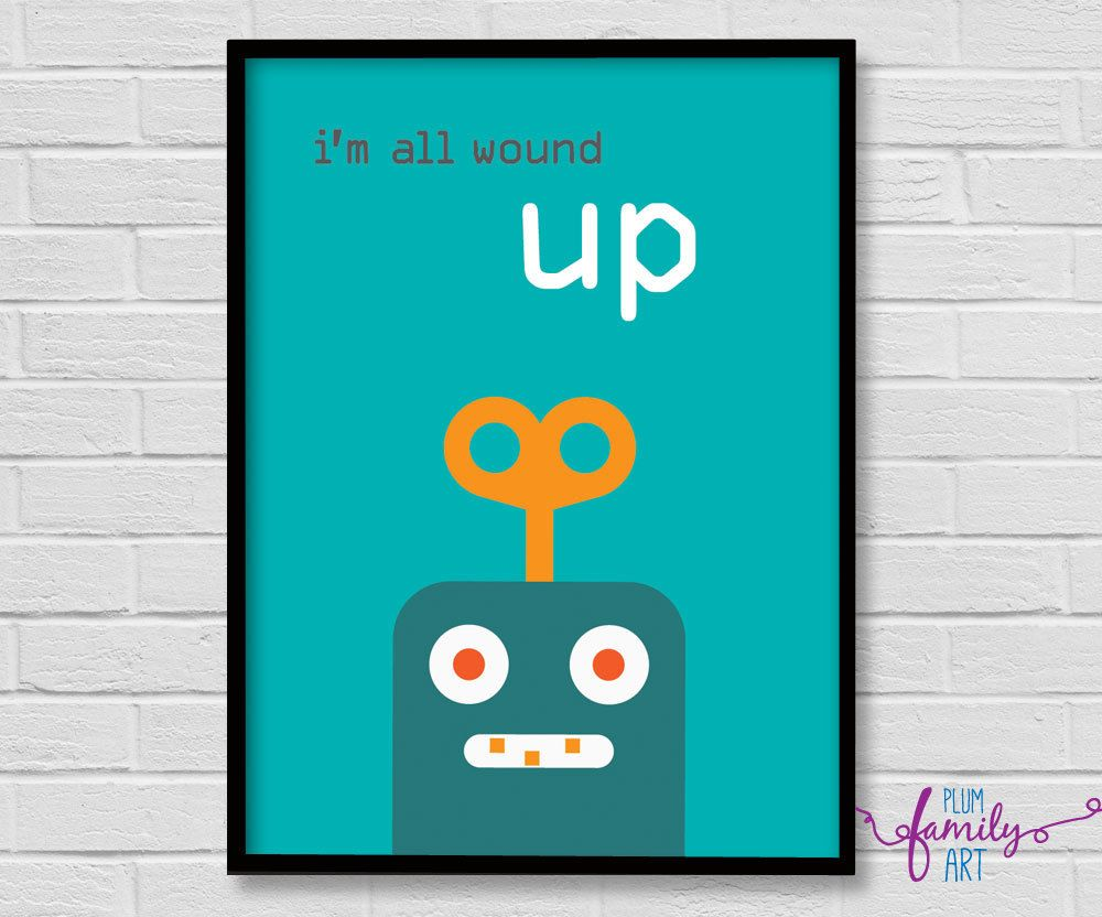 Kids Poster Poster Boys Boys Room Poster Kids Decor Robot Poster Playroom Poster Wall Art Boys By Plumfamily Boy Room Poster Playroom Posters Kids Poster