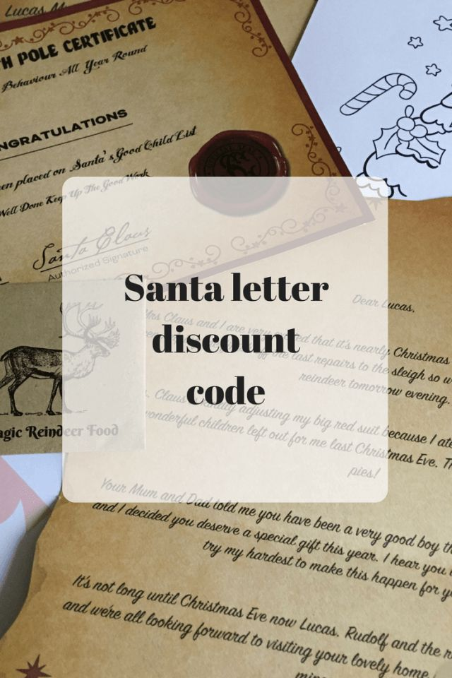 magic santa letter discount code magic santa