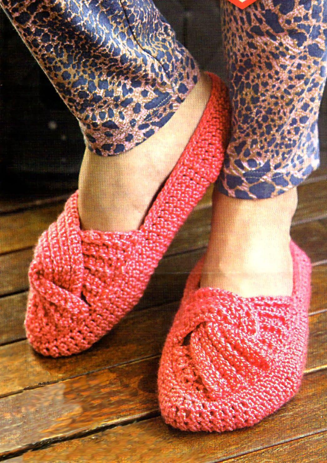 tejidos artesanales en crochet: zapato tejido en crochet con ...