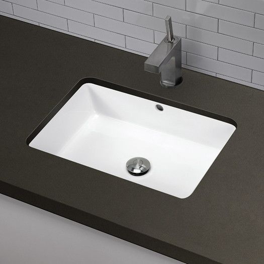 Lilli Classically Redefined Ceramic Rectangular Undermount Bathroom Sink With Overflow With Images Rectangular Sink Bathroom Undermount Bathroom Sink Small Undermount Bathroom Sink
