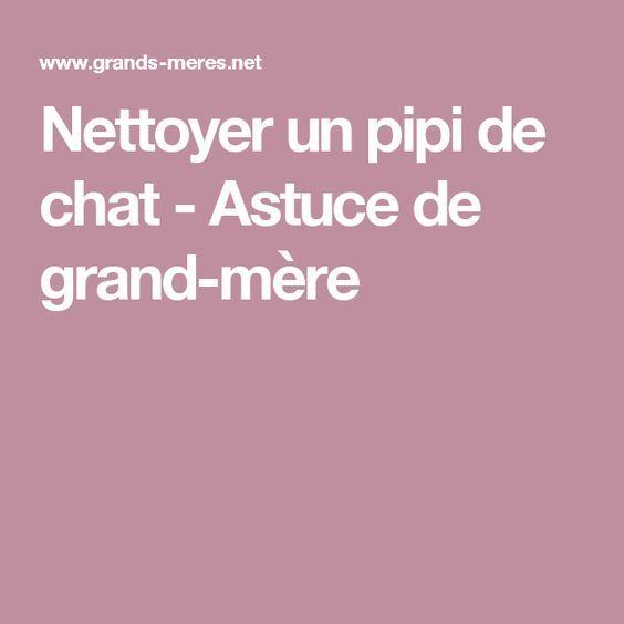 Chat Nettoyer Une Tache D Urine Astuce Pipi De Chat Urine De Chat Astuce De Grand Mere