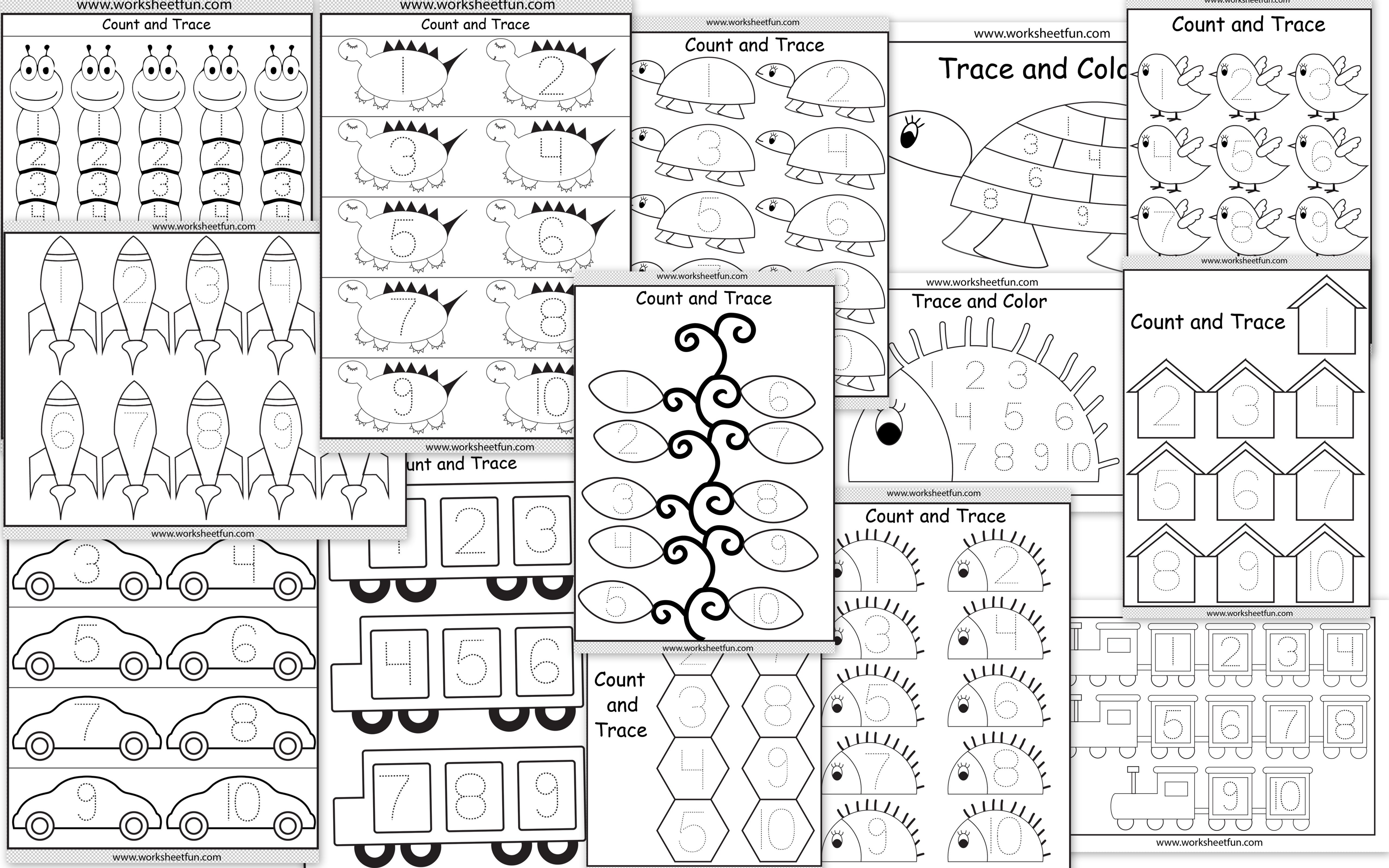 Free Printable Number Tracing Worksheets