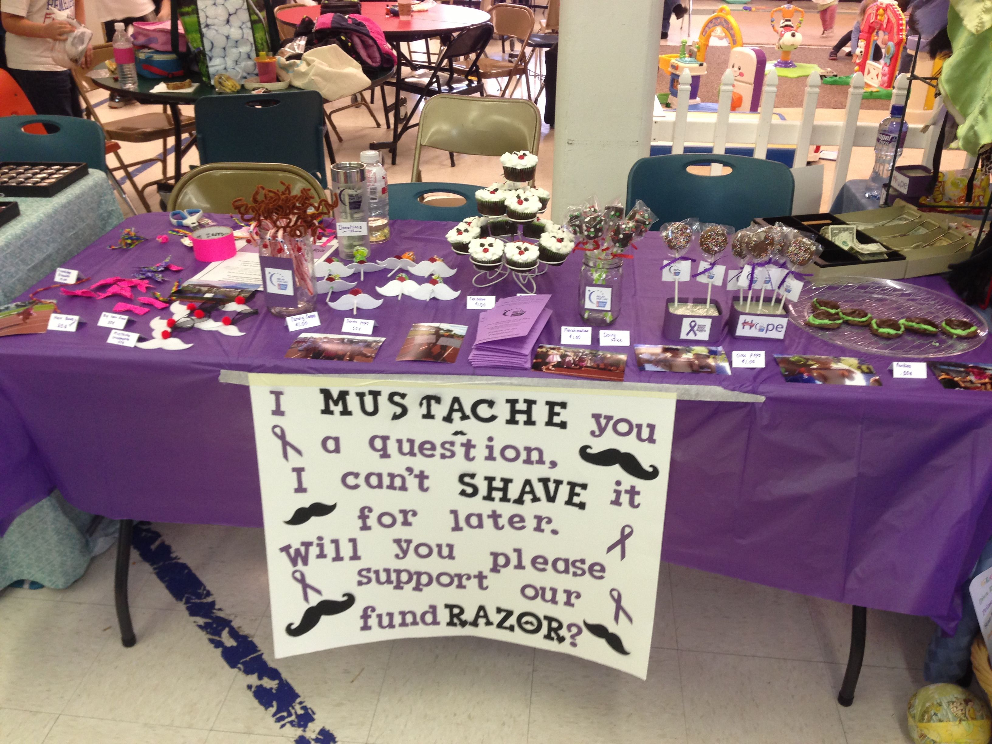 the kids relay for life fundraising table at their school winter bazaar they raised over