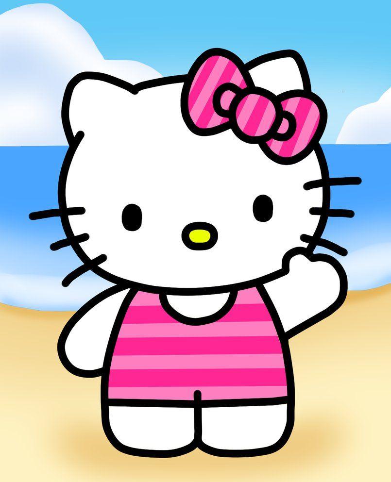 Hello Kitty In Beach By Kittykun123 Deviantart Com On Deviantart Hello Kitty Backgrounds Hello Kitty Printables Hello Kitty Pictures