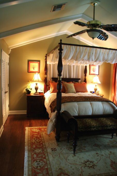 West Indies British Colonial Island Plantation Style, Bedrooms