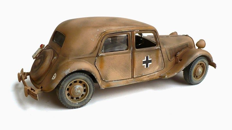 burrago u0026 39 s 1  24 scale citroen traction avant 11 cv