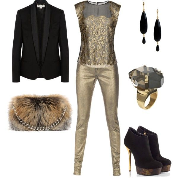 """Golden girl?"" by chaeris on Polyvore"
