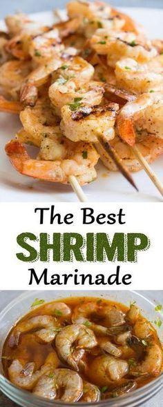 The Best Shrimp Marinade #grilledshrimp