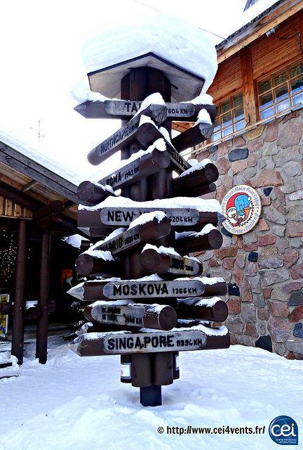 Séjour linguistique en Laponie avec le CEI  #Laponie #Lapland #CEI #voyage #travel #sejourlinguistique #winter #nature #snow #sign