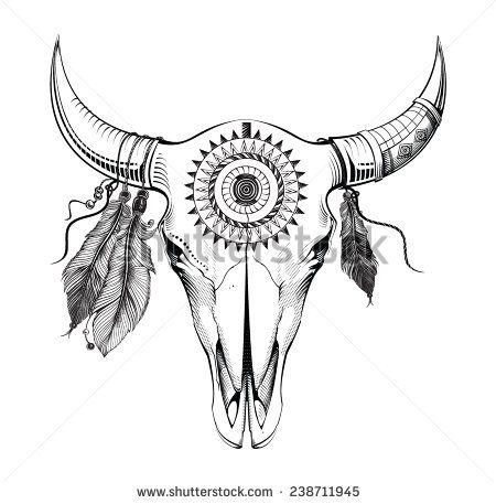 Cráneo De Bull Tattoolove Pinterest Tatuajes Toro