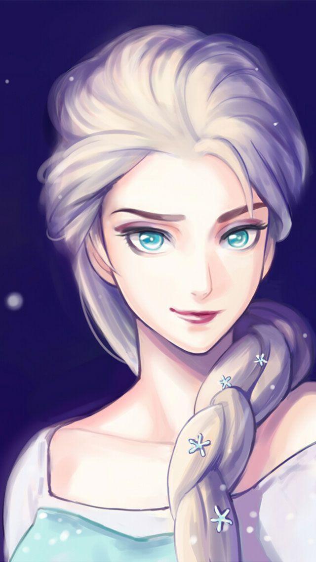 Anna From Frozen Fan Art Art Iphone Wallpaper Frozen Elsa Anna Digital Fan Art Wallpapers